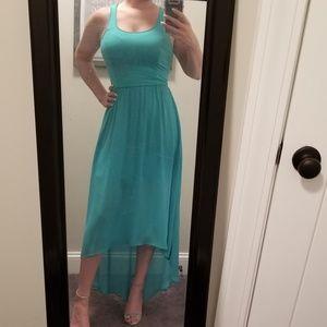 Teal High-low Dress